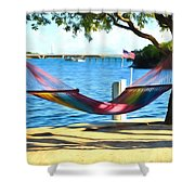 Hammock Time In The Keys Shower Curtain