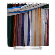 Hammocks In Colored Patterns Shower Curtain