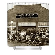 Hammond Implement Company Farm Machinery 1924 Shower Curtain
