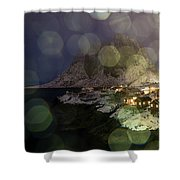 Hamnoy During A Storm Shower Curtain