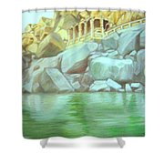Hampi On Tungabadra 2 Shower Curtain