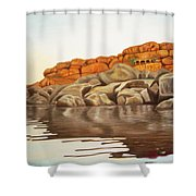 Hampi On Tungabadra Shower Curtain