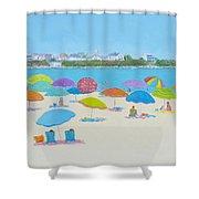 Hampton Beach And Boars Head Shower Curtain