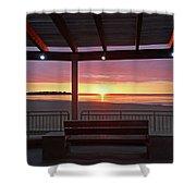 Hampton Beach Sunrise Hampton Beach State Park Hampton Nh Bench 2 Shower Curtain