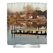 Hampton Virginia Sunrise Shower Curtain