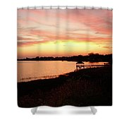 Hampton Virginia Sunset Shower Curtain