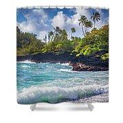 Hana Bay Waves Shower Curtain