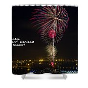 Hanabi - Haiku Shower Curtain