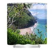 Hanakapiai Beach Shower Curtain