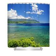 Hanalei Bay And Bali Hai Shower Curtain