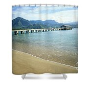 Hanalei Bay And Pier Shower Curtain