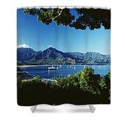 Hanalei Bay Boats Shower Curtain