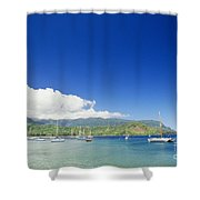Hanalei Bay Coastline Shower Curtain