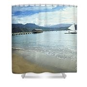 Hanalei Bay Outrigger Shower Curtain