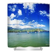 Hanalei Bay With Pier Shower Curtain