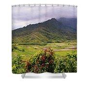 Hanalei Valley Panorama Shower Curtain