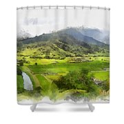 Hanalei Valley Shower Curtain