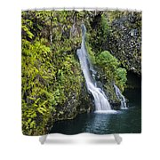 Hanawai Waterfall Shower Curtain