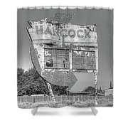 Hancock Gas Sign Shower Curtain