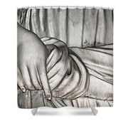 Hand And Robe Shower Curtain