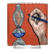 Hand Drawing Lamp Shower Curtain