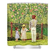 Hand In Hand Shower Curtain by Linda Simon