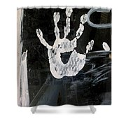 Hand In Window Picacho Arizona 2004 Shower Curtain