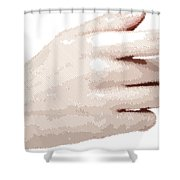 Hand - Parallel Hatching Shower Curtain