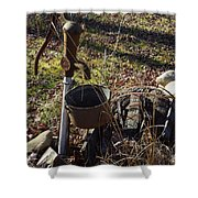 Hand Pump In The Fall Shower Curtain