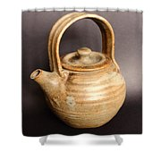 Hand Thrown Teapot Shower Curtain