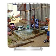 Hand Washing Clothes Shower Curtain