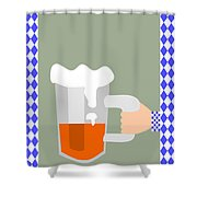 Hand With Beer Shower Curtain