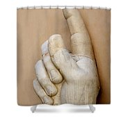 Hand With Pointing Index Finger. Statue Of Constantine. Palazzo Dei Conservatori. Capitoline Museums Shower Curtain