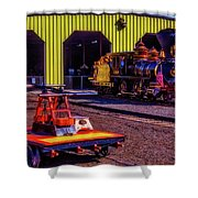 Handcar And Old Train Shower Curtain