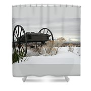 Handcart Monument Shower Curtain