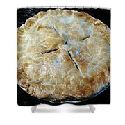 Handcrafted Apple Pie Shower Curtain