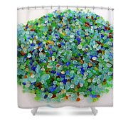 Handful Of Sea Glass Shower Curtain