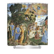 Handing Over Of The Tablets Of The Law Shower Curtain