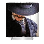 Handlebar Shower Curtain by Pat Erickson