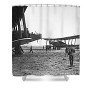 Handley Page Biplanes Shower Curtain