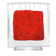 Handmade Vibrant Abstract Oil Painting Shower Curtain