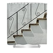 Handrail And Steps 1 Shower Curtain
