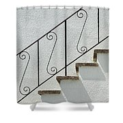 Handrail And Steps 2 Shower Curtain