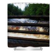 Handrails Tahquamenon Lower Falls Upper Peninsula Michigan 02 Shower Curtain