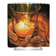 Hands By Candlelight Shower Curtain