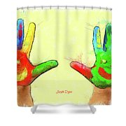 Hands In Art Shower Curtain