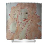 Hands In Hair Shower Curtain