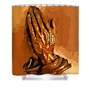 Hands Of God  Shower Curtain
