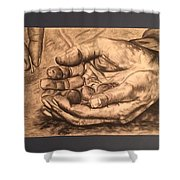 Hands Of Poverty Shower Curtain
