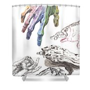 Hands Of The Masters Shower Curtain